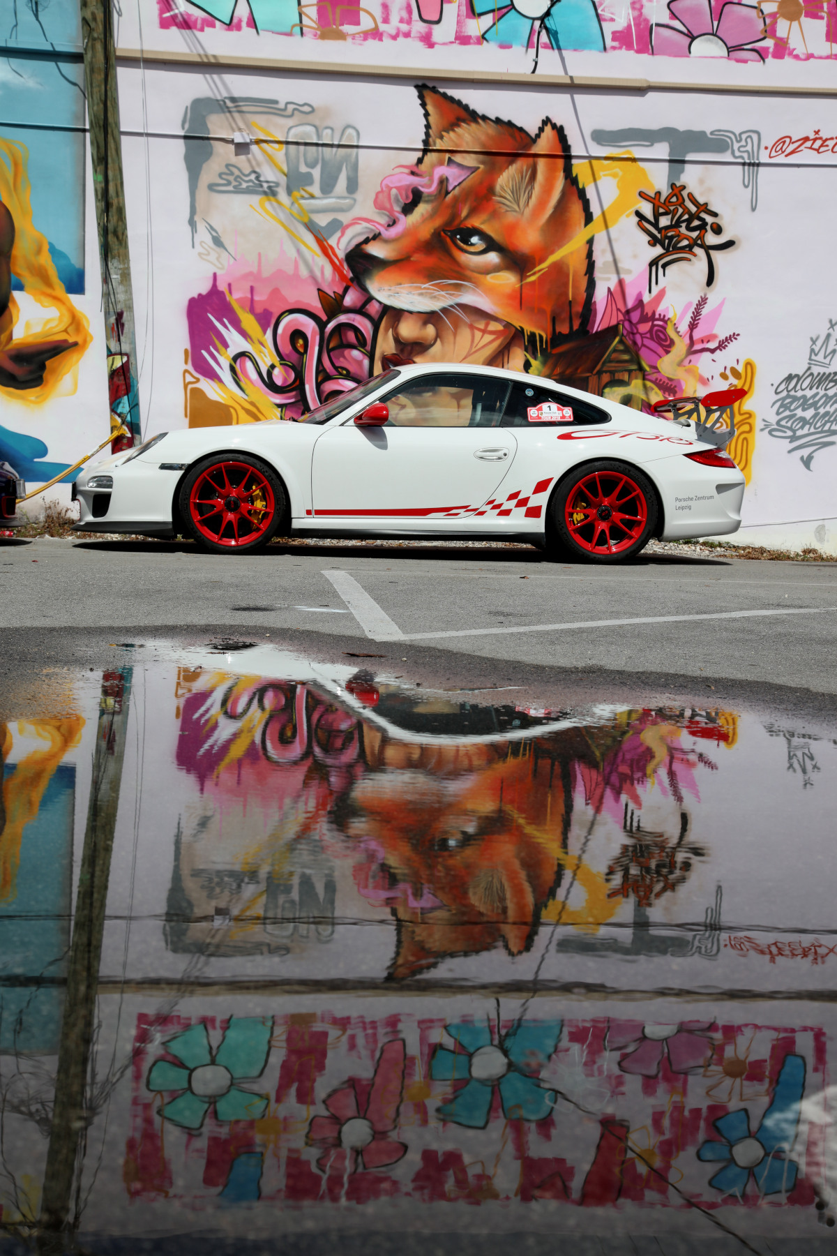 White GT3 RS with Zielrix Street Art (05)